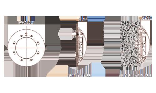 ابعاد چراغ روکار استخری CP100